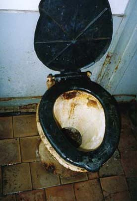 Romanian standard train toilet